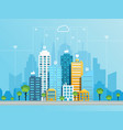 social networking city concept vector image