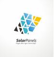 solar panels logo design vector image