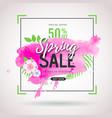 spring big sale watercolor poster vector image