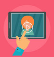 tap video play icon flat style vector image