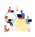 team working creative people thinking find idea vector image vector image