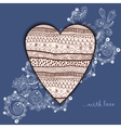 Template frame design for love card with lace vector image