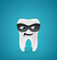 Tooth in mask vector image vector image