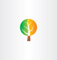 tree logo green orange icon vector image