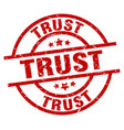 trust round red grunge stamp vector image vector image