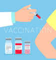vaccination concept vector image