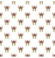 viking helmet pattern seamless vector image vector image