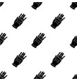 virtual reality glove controller icon in black vector image