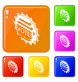 vote emblem icons set color vector image vector image
