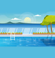 water outdoor swimming pool hotel nature relax vector image vector image