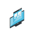 website monitor technology hardware device vector image