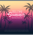 welcome summer holidays background design vector image vector image