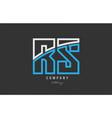 white blue alphabet letter rs r s logo icon design vector image vector image