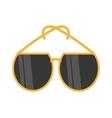 yellow sunglasses fashionable beach vector image