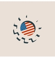 3D cog wheel with USA flag vector image vector image
