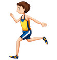 a runner character on white background vector image