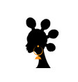 afro hairstyles woman hair bun styles for curly vector image vector image