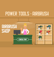 airbrush power tools online shop service banner vector image