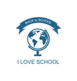 Back to School Logo with Globe vector image