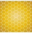 background Yellow and orange honeycomb vector image vector image