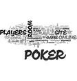 best online poker rooms reviewed free tips for vector image vector image