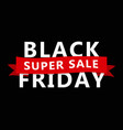 black friday banner sale design template vector image
