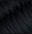 black wavy stripes background vector image