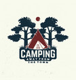 camping away from town slogan vector image