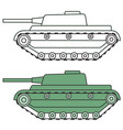 cartoon tank icon vector image