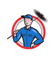 Chimney Sweeper Cleaner Worker Retro vector image vector image