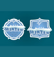 christmas sign with text winter vector image vector image
