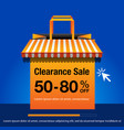 clearance sale banner vector image vector image