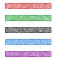 Colored sketch web banner background set vector image vector image