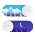 day and night switch control screen lighting vector image vector image