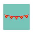 decorative pennants celebration ornament carnival vector image vector image