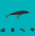 fishing tackle icon flat vector image vector image