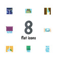 flat icon frame set of glazing glass clean and