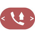 flat paper cut style icon of out-coming call vector image vector image
