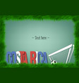frame costa rica and a soccer ball at the gate vector image