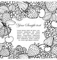 frame of berries vector image