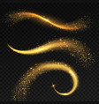 golden light tails magic fairy stardust with vector image vector image