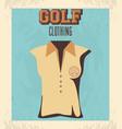 golf uniform femenine shirt vector image