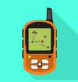 gps mountain tracker icon flat style vector image