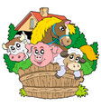 group of farm animals vector image