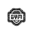 gym club emblem for t-shirt sticker and tag vector image vector image