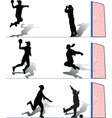handball women vector image vector image