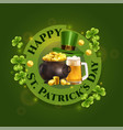 happy patricks day composition vector image vector image