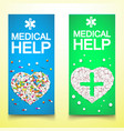 healthy medical vertical banners vector image vector image