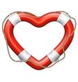 Heart Lifebuoy EPS 10 vector image
