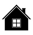 home icon black silhouette symbol of residential vector image